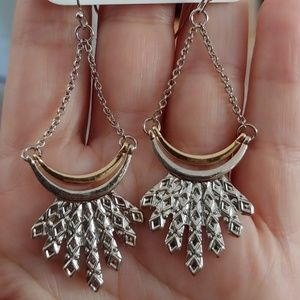 Charming Charlie silver and gold earrings